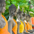 Buddha Status at Wat Yai Chaimongkol — Stock Photo