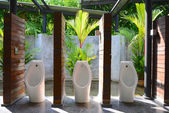 Urinal with garden — Stock Photo