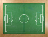 Football field on blackboard — Stock Photo