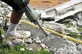 Operating A Jackhammer — Stock Photo