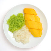 Sticky Rice with Mango — Stock Photo