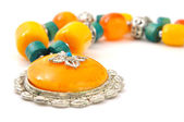 Stone necklace — Stock Photo
