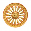 Wheel of dhammof buddhism — Stockfoto #41091339