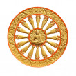 Stock Photo: Wheel of dhammof buddhism