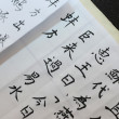 Writing Chinese Calligraphy — Stock Photo