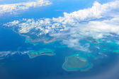 Aerial view of Okinawa Islands — Stockfoto