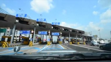 Highway Toll Booth — Stockvideo
