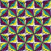 Modello astratto senza soluzione di continuità geometrica — Vettoriale Stock