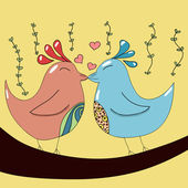 Two birds in love — Stock Vector
