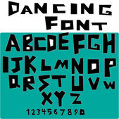 Vector dancing font — Stock Vector