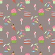 Seamless pattern with sweetness — Stock Vector