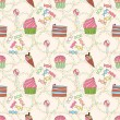 Seamless pattern with sweetness — Image vectorielle