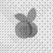 Jabłko monochromatyczne — Wektor stockowy