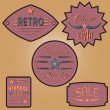 Set of vintage design labels and badges. — Stock Vector