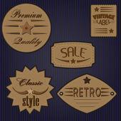 Conjunto de diseño vintage etiquetas y placas. — Vector de stock