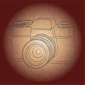 Vintage photo camera — Stock Vector