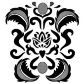 Black lace element — Stock Vector