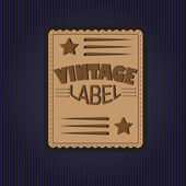 Vintage dark label — Stock Vector