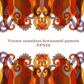 Horisontal seamless abstract pattern — Stock Vector