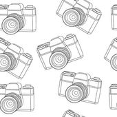 Old camera seamless pattern — Stock Vector