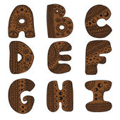 Alphabet letters from A to I — Vetorial Stock