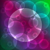 Abstract colorful background with bubbles and place for text — Stockfoto