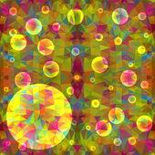 Abstraktní barevné pozadí s bublinkami a místo pro text — Stock vektor