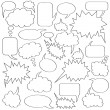 Comics bubble collection — Stock Vector