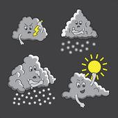 Drôles de nuages bb — Vecteur
