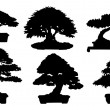 Bonsai silhouette — Stockvectorbeeld