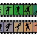 Soccer filmstrips 01 — Stock Vector