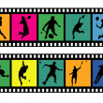 Badminton filmstrips 01 — Stock Vector #32481463