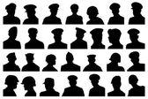 Portraits military se — Stock Vector