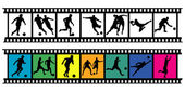 Soccer filmstrips 03 — Stock Vector