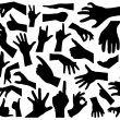 Hand silhouettes — Stock Vector #37234539
