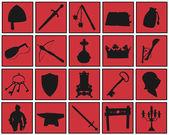 Medieval symbols — Stock Vector