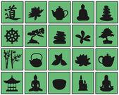 Relax symbols — Vetor de Stock