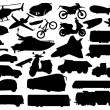 Transport silhouettes — Stock Vector