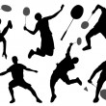 Badminton silhouettes — Stock Vector #44205615