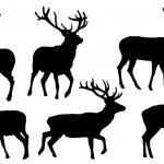 Deer silhouettes — Stock Vector #47620423