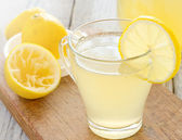 Glass of fresh homemade tasty lemonade — Stock Photo