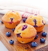 Fresh baked blueberry muffins — Stock fotografie