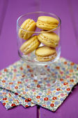 Yellow macarons — Stock Photo