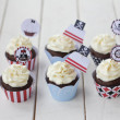 Stock Photo: Pirates cupcakes