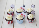 Pirates cupcakes — Stock Photo