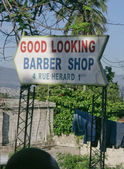 Barber Shop Sign — Stock Photo