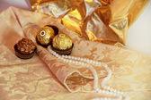 Godis och pärlor — Stockfoto