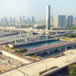 Stock Photo: Tokyo Travel: Odaib(Daiba) cityscape with tilt shift lens effect