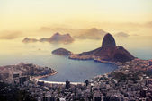 Rio de Janeiro view: Botafogo and Sugar Loaf viewed from Corcovado — Stock Photo