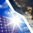 Stock Photo: Solar cells instead of fossil fuels
